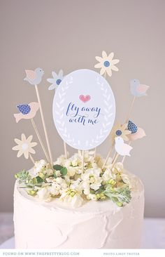FREE printable DIY Cake Toppers