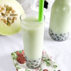 vegan: honeydew bubble tea...