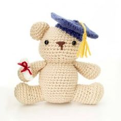 Lion Brand Vanna's Choice Amigurumi Graduation Bear