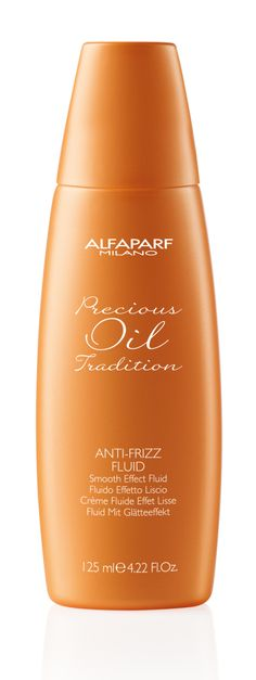 NEW! Precious Oil Tradition Anti-Frizz Fluid A smooth effect fluid. This light anti-frizz fluid contains an anti-humidity formula that smooths hair fibers to reduce volume of curly, wavy and straight hair.