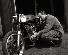 John Surtees and his AJS