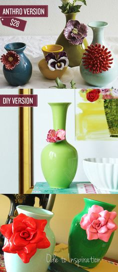 Craft some floral vases.   38 Anthropologie Hacks