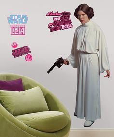 Take a look at this Star Wars Star Wars Princess Leia Peel & Stick Giant Decal today!