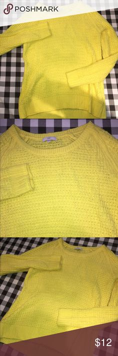 Bright Yellow Gap Sweater Briiiight yellow. Size small, fits a medium. GAP Sweaters Crew & Scoop Necks