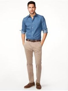 This looks good on everyone. A great go-to outfit for business casual offices.