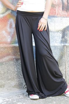 Very wide, extra long black skirt pants The pants have elastic waist. Very comfortable and practical. ◘◘◘◘◘◘◘◘◘◘◘◘◘◘◘◘◘◘◘◘◘◘◘◘◘◘◘◘◘◘◘◘◘◘◘◘◘◘◘◘◘◘◘◘◘◘◘◘◘◘◘◘◘◘◘◘◘◘◘◘ CAN BE MADE ACCORDING TO YOUR SIZE OR MEASUREMENTS! NO EXTRA FEE FOR PLUS SIZES!