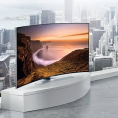 Samsung Curved 4K Ultra HD LED TV  Samsung Curved 4K Ultra HD HU9000 Series Discover the 4K Ultra HD experience with an innovative, curved design that creates a panoramic effect and helps the picture feel bigger. Display 4K content at 4 times the resolution of Full HD, plus upscale all of your current TV shows and movies in amazing detail.