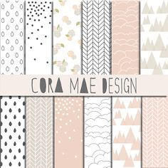 Cora Mae Design: Coral Collection Digital Papers