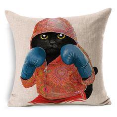 Cute Cat Dog Panda- Pillowcase
