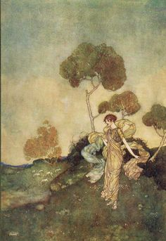 Iris: Thy turfy mountains, where live nibbling sheep - Shakespear's Comedy of The Tempest, 1908