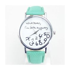 I am late anyway new colors cool teen watch MyFriendShop ($7.99) ❤ liked on Polyvore featuring jewelry and watches