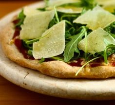 Arugula and pear - two of my favorite ingredients - on a pizza! Yumm.