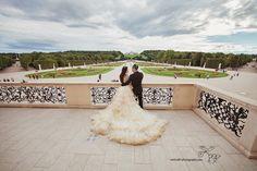 Wedding in Vienna,  Schönbrunn Palace, Austria.