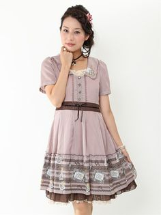 lace and stamps otome-kei dress from axes femme
