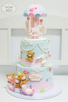 Baby Carousel Cake - Cake by Ceca79