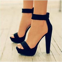 Womens Ankle Strap Platform High Heel Sandals Casual Knit Weave PEEP Toe Shoes Black for sale online Prom Heels, High Heels For Prom, Platform High Heels, Sandals Platform, Shoes High Heels, Stilettos, High Heels Outfit, Black High Heels, Ladies High Heel Shoes