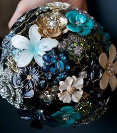 Mariages Rétro: Les bouquets broches [tutoriel]