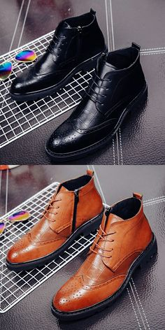 $29.48 <Click to buy> Men's Formal Dress High Top Oxford Boot