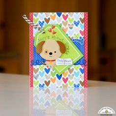 Doodlebug Design Inc Blog: Puppy Love Collection: Personalized Puppy Cards by Courtney