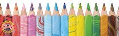Magic Kleurpotloden van Koh-I-Noor. Drie kleuren in een potlood! Zeer geschikt voor bijvoorbeeld de kleurboeken voor volwassenen