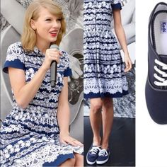 Ked's navy blue size 8 So comfortable!!! Navy blue Keds. GUC. Size 8 keds Shoes Sneakers