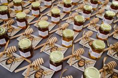 """Set of 20 prints """"Honeybee"""" themed escort cards, place cards, seating cards, favor, favor tags, cake topper, signage, shower, gift  tags. $30.00, via Etsy."""