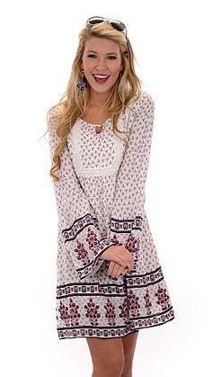 Pretty Peasant Dress, Cream