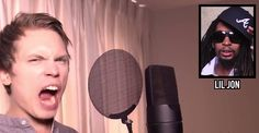 "Singer Joel ""Roomie"" Berghult has one epic voice, well actually multiple. He has an insane ability to impersonate popular male singers. So, without further ado: One Man, 23 Voices. 