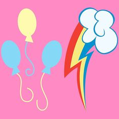 My little Pony - Pinkie Pie + Rainbow Dash Cutie Mark