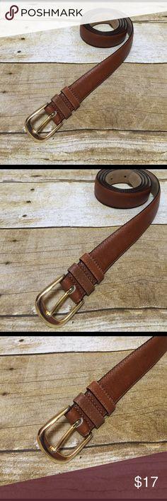 "Brazilian Leather Belt Brazilian Leather Belt ... Gold buckle! Full grain cowhide, cowhide lining! ️Measures 42 1/4""L ... Great shape! 🌸 Haley's Closet! Accessories Belts"