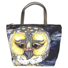 Wise Old Owl Bucket Bag