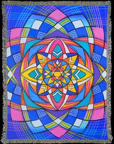 Visionary Art by Elisa Rose Mountain woven into beautifully detailed Art Blankets. Soft, cozy and conscious ~ 60% Recycled. Made in the USA! Perfect for yoga, meditation, festivals, Burning Man.