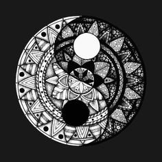 Shop Yin Yang Mandala yin and yang posters and art prints designed by Litedawn as well as other yin and yang merchandise at TeePublic. Geometric Yin Yang Tattoo, Tatoo Ying Yang, Ying Yang Tatuaje, Ying Y Yang, Yin Yang Art, Yin Yang Tattoos, Geometric Tattoos, Yin And Yang, Ying Yang Symbol