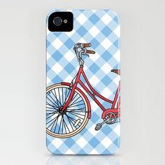 His Bicycle - iPhone case by jadeboylan - http://society6.com/jadeboylan/His-Bike_iPhone-Case