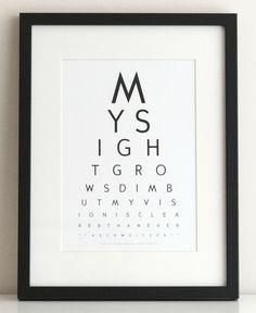 inspirational eye chart art my sight grows dim but my vision is clearer than ever Eye Chart Printable, Eye Test Chart, Chart Maker, Knock Off Decor, Custom Eyes, Diy Artwork, Charts For Kids, Diy Canvas Art, Vinyl Wall Art