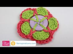 How to Crochet Double Layered Button Flower