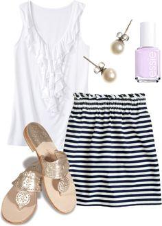 """Summer Skirt"" by katekinder ❤ liked on Polyvore"