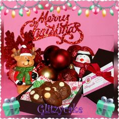 Chocolatey-chocochip #glitzycake cookies are a perfect treat for your friends this Christmas!   San Francisco Bay Area email glitzycake@gmail.com today!