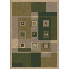 """Milliken & Company Bloques Deep Olive Runner: 2 Ft. 4 In. X 11 Ft. 8 In. Rug by Milliken & Company. $189.00. Finish: Runner: 2 Ft. 4In. X 11Ft. 8 In.. 28""""""""W x 140""""""""D. -Stainmaster brand stain treatment -Alphasan Antimicrobial -10 year wear warranty"""