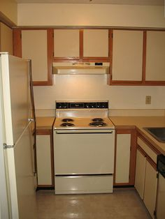 ( Update : See The Completely Finished Cabinets Here .) We Are Finally  Getting · Painting Laminate Kitchen ...