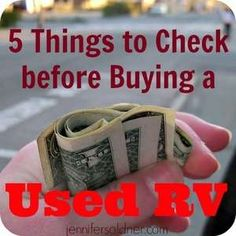 5 Things to Check Before Buying a Used RV