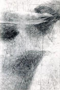 Gerhard Richter,  23.12.1985 (1985), Graphite on paper, 23.8 cm x 16 cm #contemporaryabstractartv