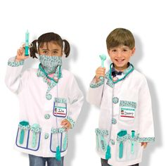 With the Melissa & Doug Doctor Dress Up Costume Set your little one will be able to play doctor to their heart's content