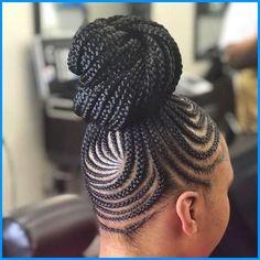 Braided Cornrow Hairstyles, Ghana Braids Hairstyles, Braids Hairstyles Pictures, African Hairstyles, Cornrows Updo, Oscar Hairstyles, Scene Hairstyles, Hairstyles 2018, Easy Hairstyles