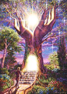 (PEINTRE MARIO DUGUAY)  Tree of Light