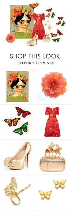 """""""You Give Me Butterflies!"""" by cris-1121 ❤ liked on Polyvore featuring WALL, Christian Louboutin, Alexander McQueen and Tory Burch"""