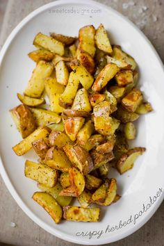 crispy herbed potatoes- these are seriously delicious and so easy