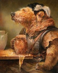 Beer in Stein Bear (print)