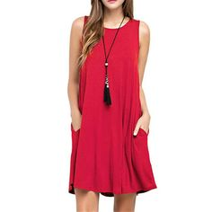 2018 Summer Dress Women Plus Szie Mini Dress Sleeveless Boho Short Beach Dress Black Red Sundress Casual Shift Dresses Vestidos Shift Dresses, Plus Size Maxi Dresses, Casual Dresses, Mini Dresses, Floral Dresses, Cotton Dresses, Party Dresses, Casual Wear, Dress Outfits