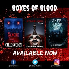 Hand-picked horror, delivered to your door. Featuring the best independent and small-press horror writers working today. Carmilla, Horror Books, Work Today, Writers, Badge, Blood, Boxes, Product Launch, Movie Posters